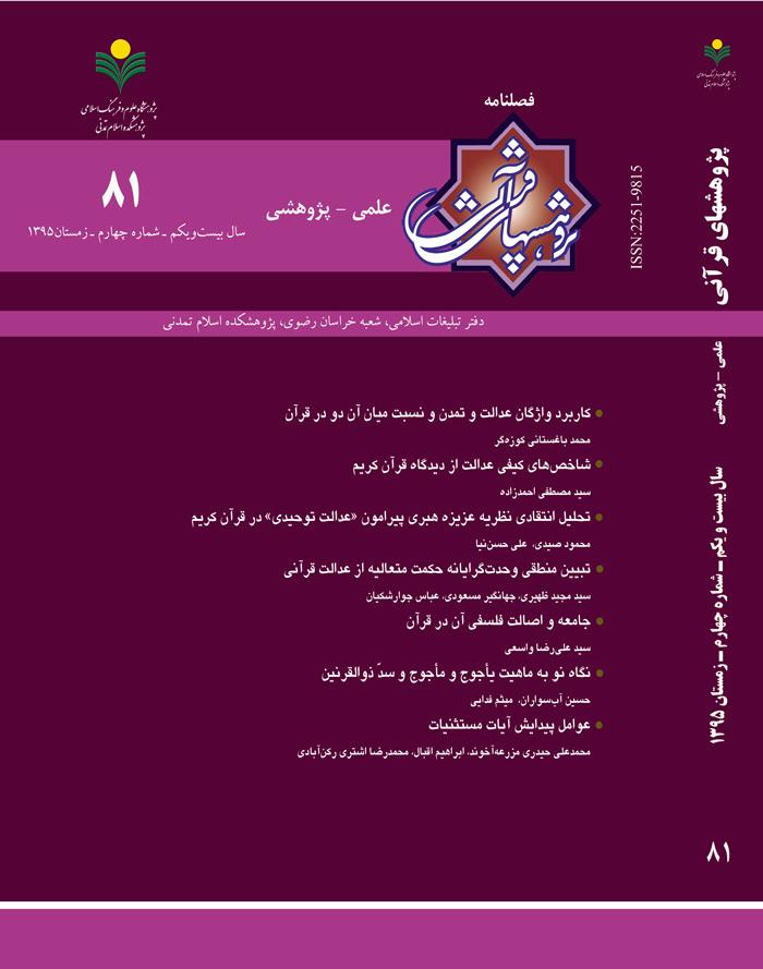 پژوهش های قرآنی